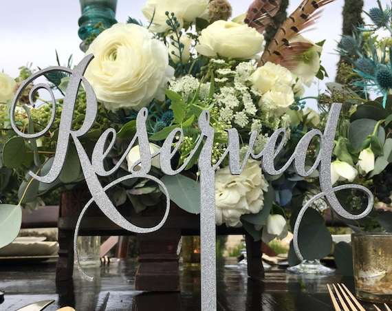 Reserved Sign, Reserved Table Sign, Reserved Sign for Wedding, Wedding Reserved Sign, Reserved for Family, Reserved Wedding Sign
