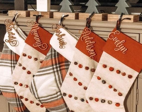Personalized Name Ornament, Custom Name Ornament, Custom Name Tag,  Christmas Gift Tag, Rustic Name Tag, Custom Gift Tag, Stocking Name