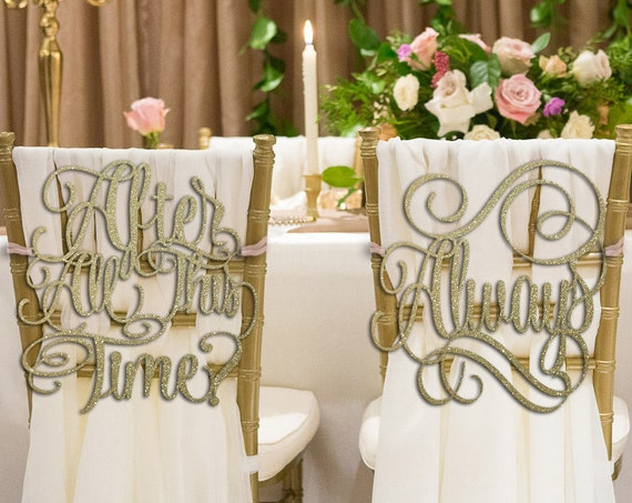 Wizarding Wedding, Wedding Chair Signs, After All This Time, Always, After All This Time Always Chair Signs, Chair Signs