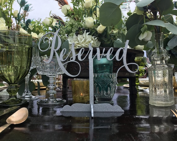 Reserved Sign, Reserved Table Sign, Reserved Sign for Wedding, Wedding Reserved Sign, Reserved for Family, Reserved Wedding Sign,