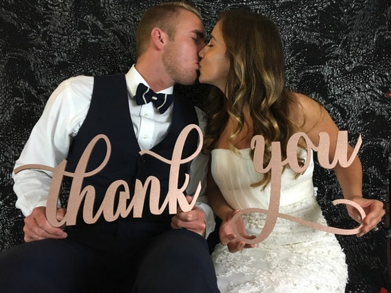 Thank You Sign, Thank You Photography Prop, Wedding Thank You Post Card, Thank You Card Prop, Unique Thank You