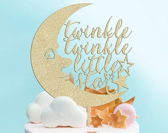 Baby Shower Cake Topper, Twinkle Twinkle Little Star Cake Topper, Baby Shower Cake Topper, Baby Cake Topper, Gender Reveal Cake Topper