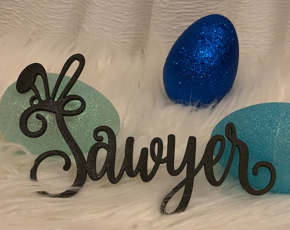 Easter Basket Decoration,  Easter Basket Name Tag, Custom Name Tag, Easter Name Tag, Bunny Name Tag,  Easter Decor, Easter