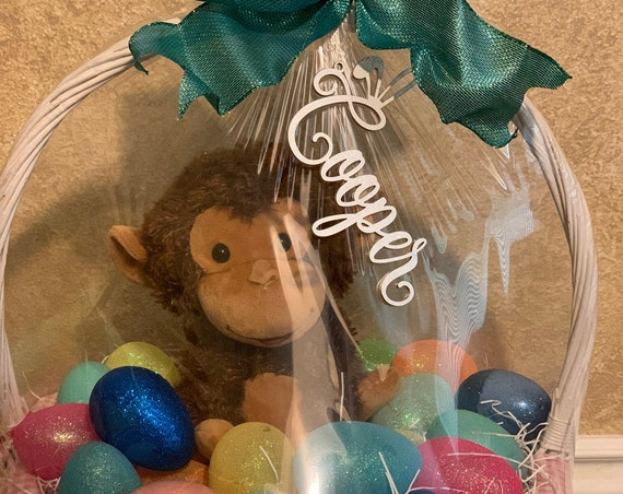 Easter Basket Name Tag, Easter Basket Tag, Easter Decoration,  Easter Basket Decoration, Custom Name Tag, Easter Name Tag, Bunny Name Tag