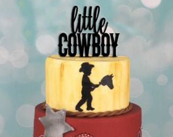 Cowboy Cake Topper, Western Cake Topper, Boy Birthday, Baby Boy Cake Topper, Baby Shower Cake Topper, Gender Reveal Cake Topper