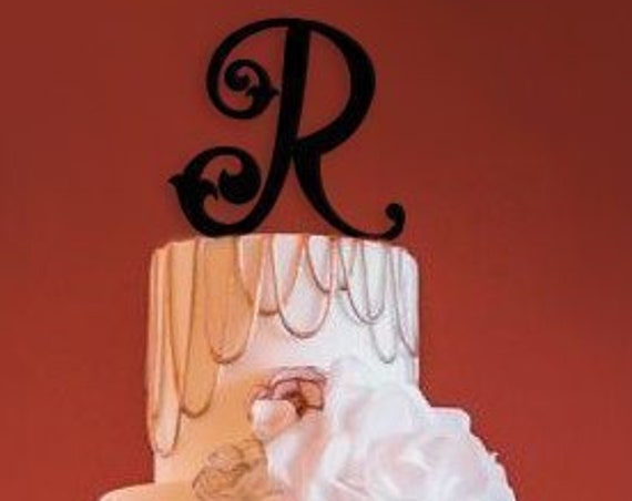 Wedding Cake Topper, Custom Cake Topper, Monogram Cake Topper, Letter Cake Topper, Wedding Cake Topper,  Custom Cake Topper
