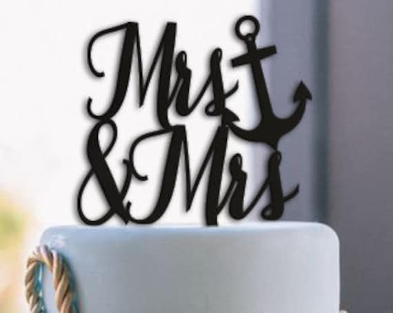 Mrs and Mrs Cake Topper, LGBTQ Cake Topper, Lesbian Wedding Cake Topper, Wedding Cake Topper, Gay Wedding, Gay Wedding Cake Topper