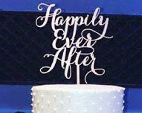 Happily Ever After Wedding Cake Topper, Happily Ever After, Disney Wedding, Wedding Cake Topper, Engagement Cake Topper