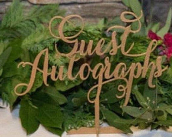 Guest Autographs Sign, Guestbook Sign, Be Our Guest Sign, Wedding Sign, Reception Sign, Wedding Guestbook, Reception Decor, Wedding Decor