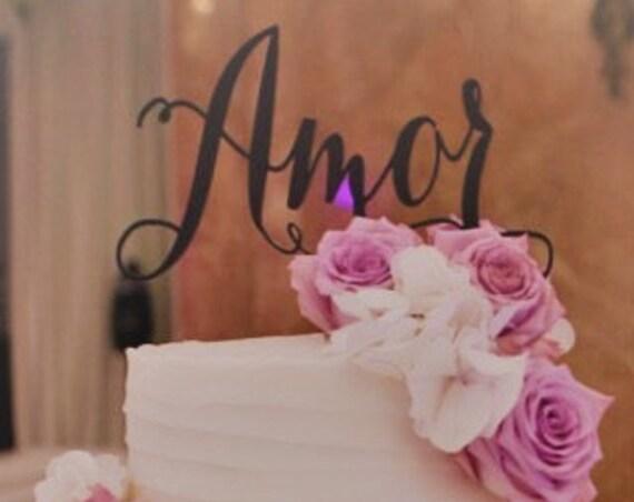 Amor Cake Topper, Wedding Cake Topper, Cake Topper for Wedding, Engagement Cake Topper, Bridal Shower Cake Topper, Anniversary Cake Topper