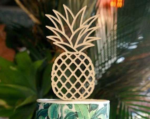 Pineapple Cake Topper, Wedding Cake Topper, Hawaiian Wedding Cake Topper,  Aloha Cake Topper, Destination Wedding Cake Topper