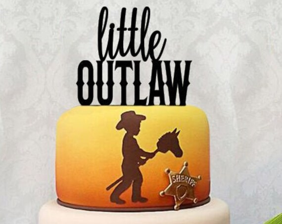 Baby Shower Cake Topper, Boy baby shower, Western Baby Shower, Cowboy Baby Shower, Cowboy Birthday, Western Birthday, Little Outlaw