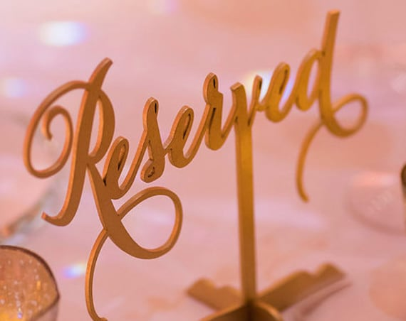 Reserved Table Sign, Reserved Sign, Reserved Sign for Wedding, Wedding Reserved Sign, Reserved for Family, Reserved Wedding Sign,