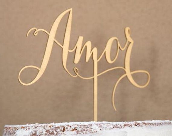 Amor Wedding Cake Topper, Amor Cake Topper, Amor,  Wedding Cake Topper, Cake Topper for Wedding, Bridal Shower Cake Topper