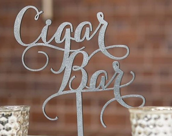 Laser Cut Wood Wedding Sign, Cigar Bar, Rustic Cigar Bar Sign, Cigar Decor, Groom Gift, Gift for Groom, Cigar Lounge Sign, Wedding Sign