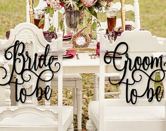 coed bridal shower bridal shower chair signs jack and jill bridal shower bride to be and groom to be chair signs