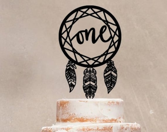 One Cake Topper, Cake Topper, First Birthday, Boho Cake Topper, 1st birthday, 1st Cake Topper, Dream Catcher Cake Topper, Tribal Cake Topper