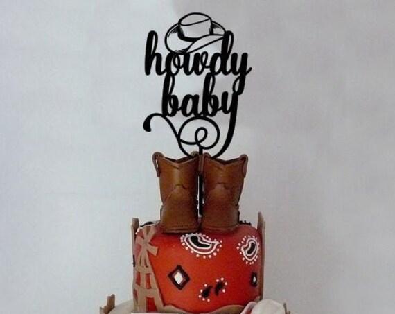 Cowboy baby shower, Western baby shower, Baby Shower Cake Topper, Howdy Baby Cake Topper, Cowboy cake topper, western cake topper,