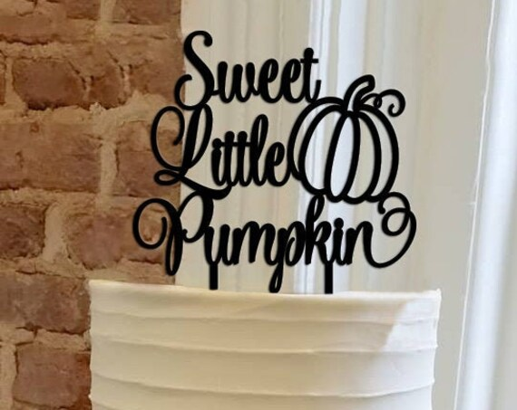Sweet Little Pumpkin, Baby Girl Cake Topper, Baby Shower Cake Topper, Gender Reveal Cake Topper,Fall Baby Shower, Pumpkin Baby Shower