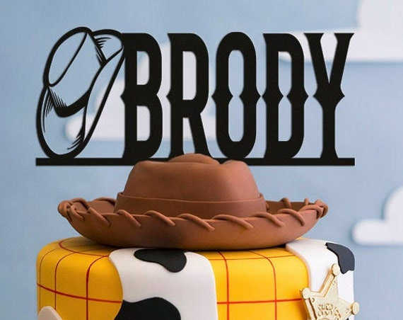 Personalized Cake Topper, Cowboy Cake Topper, Western Cake Topper, Birthday Cake Topper, Shower Cake Topper, Western Birthday