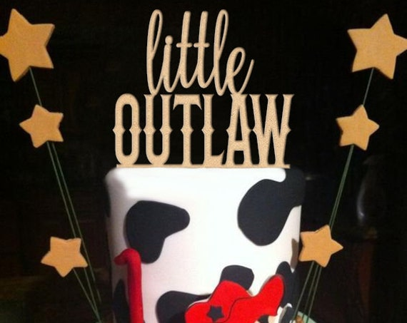 Cowboy Birthday, Western Birthday, Little Outlaw, Western Baby Shower, Cowboy Baby Shower,Baby Shower Cake Topper, Boy baby shower