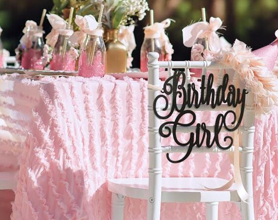 Birthday Decorations, Birthday Girl Chair Sign, Birthday Party, Custom Sign, Wooden Sign, DIY Sign, Rustic Chair Sign, Custom Birthday Sign