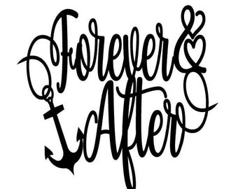 Forever & After Cake Topper, Nautical Wedding, Nautical Wedding Cake Topper