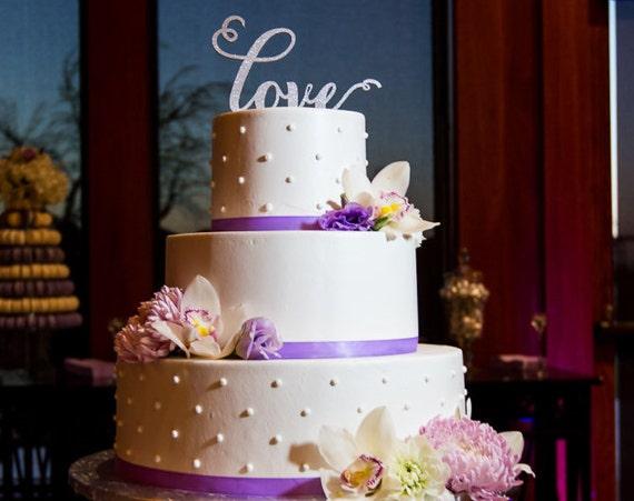 Love Cake Topper, Wedding Cake Topper, Love Wedding Cake Topper, Anniversary Cake Topper, Love Topper, Gold Glitter Cake Topper, Rose Gold