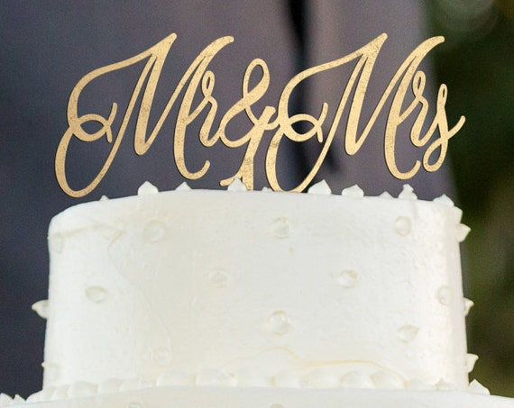 Mr & Mrs Cake Topper, Engagement Cake topper, Wedding Cake Topper, Glitter Cake Topper, Wooden Cake Topper, Gold Cake Topper, Rose Gold Cake
