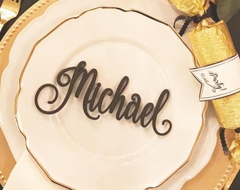 Name Cards Wedding, Laser Cut Names, Place Setting, Wedding Place Card, Guest Names, Guest Seating, Place Card, Custom Name Place Setting
