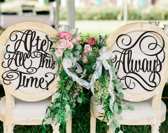 Wedding Chair Signs, After All This Time Chair Sign, Always, Wizarding Wedding, After All This Time Always Chair Signs, Wedding Decor