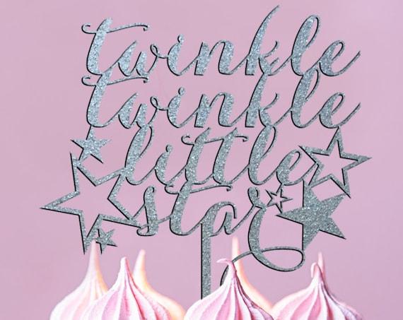 Baby Girl Cake, Baby Boy Cake, Gender Reveal, Twinkle Twinkle Little Star Cake Topper, Baby Shower Cake Topper, Gender Neutral Cake Topper