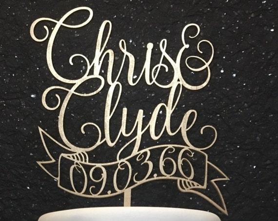 Custom Cake Topper, Wedding Cake Topper, Name Cake Topper, Engagement Cake Topper, Bridal Shower Cake Topper, Anniversary Cake Topper