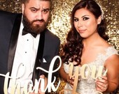 Thank You Photography Prop, Wedding Thank You Post Card, Thank You Sign, Thank You Card Prop, Unique Thank You