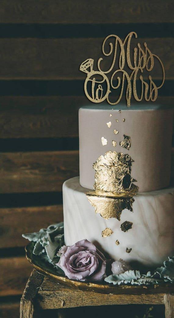 Bridal Shower Cake, Bridal Shower Decor, Miss to Mrs Cake Topper, Bridal Shower Cake Topper, Rose Gold Glitter Cake Topper, Cake Topper