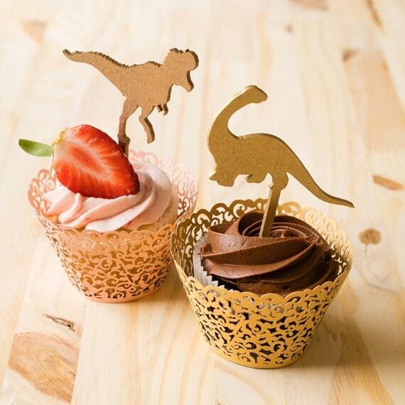 Dinosaur Cupcake Toppers, Dinosaur Theme Party, Jurassic Park Cupcake Toppers, T-Rex Cupcake Toppers, Dinosaur Birthday Cupcakes
