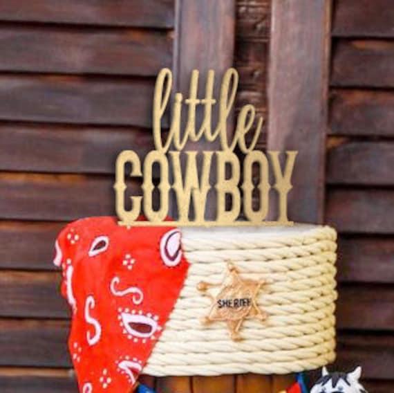 Baby Boy Cake Topper, Baby Shower Cake Topper, Gender Reveal Cake Topper, Cowboy Cake Topper, Western Cake Topper, Boy Birthday