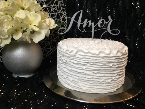Wedding Cake Topper, Amor Cake Topper, Cake Topper For Wedding, Glitter Cake Topper, DIY Cake Topper, DIY Wedding, DIY Wedding Decorations