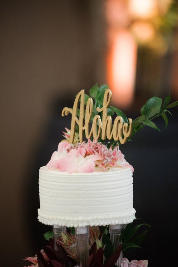 hawaiian decor aloha style tropical home decorating ideas.htm aloha cake topper rose gold wedding wedding cake topper etsy  aloha cake topper rose gold wedding