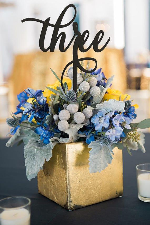 Flower Centerpiece Table Number, Laser Cut Table Number, Silver Table Number, Table Number Glitter, Table Number Set, Script Table Number
