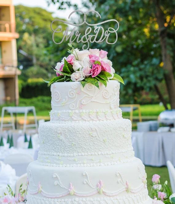 Mr & Dr, Mr and Dr Cake Topper, Mr and Dr Wedding Cake Topper,  Wedding Cake Topper, Engagement Cake Topper, Bridal Shower Cake Topper