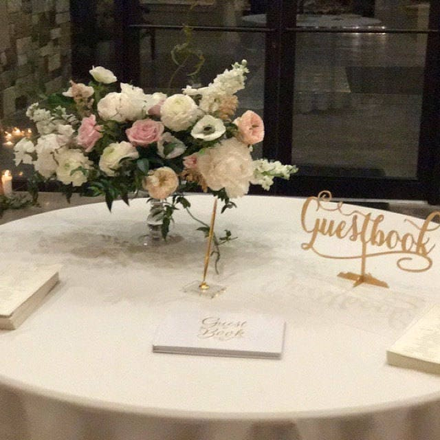 Reception Sign, Wedding Signage, Wedding Guestbook, Wedding Decor ...