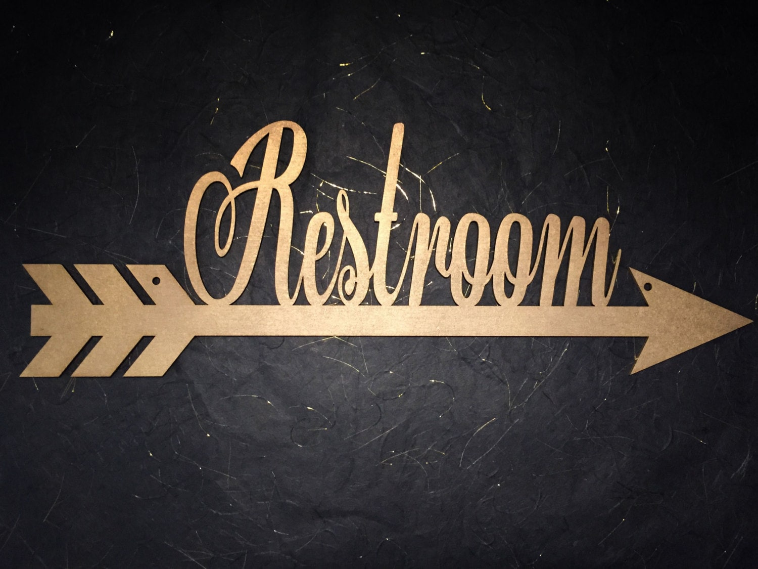 Restroom Arrow Sign Bathroom Wedding Directional Direction