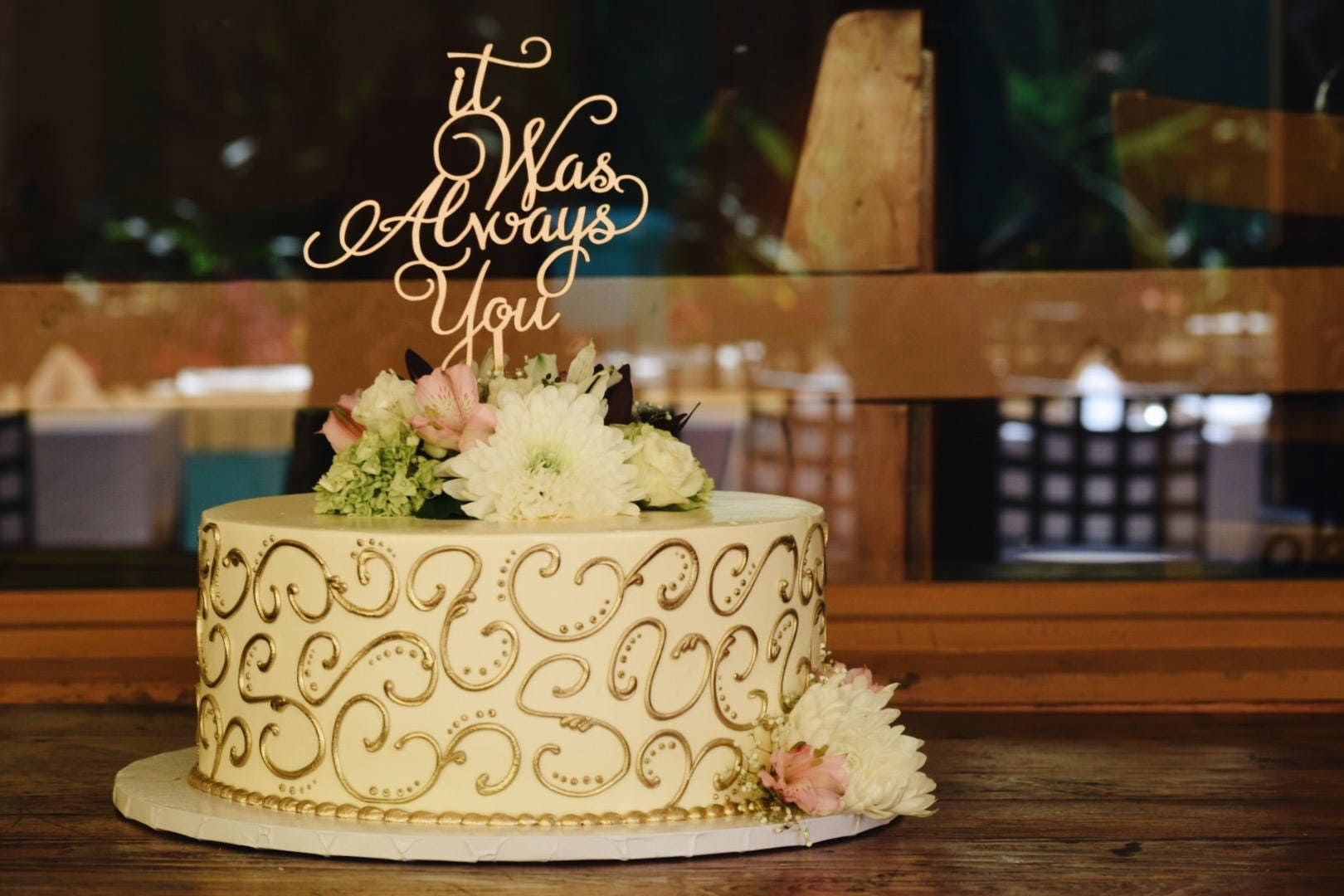 It was Always You Cake Topper, Wedding Cake Topper, It Was Always ...