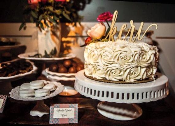 Custom Singe Name Cake Topper, Wedding Cake Topper, Engagement Cake Topper, Bridal Shower Cake Topper, Anniversary Cake Topper