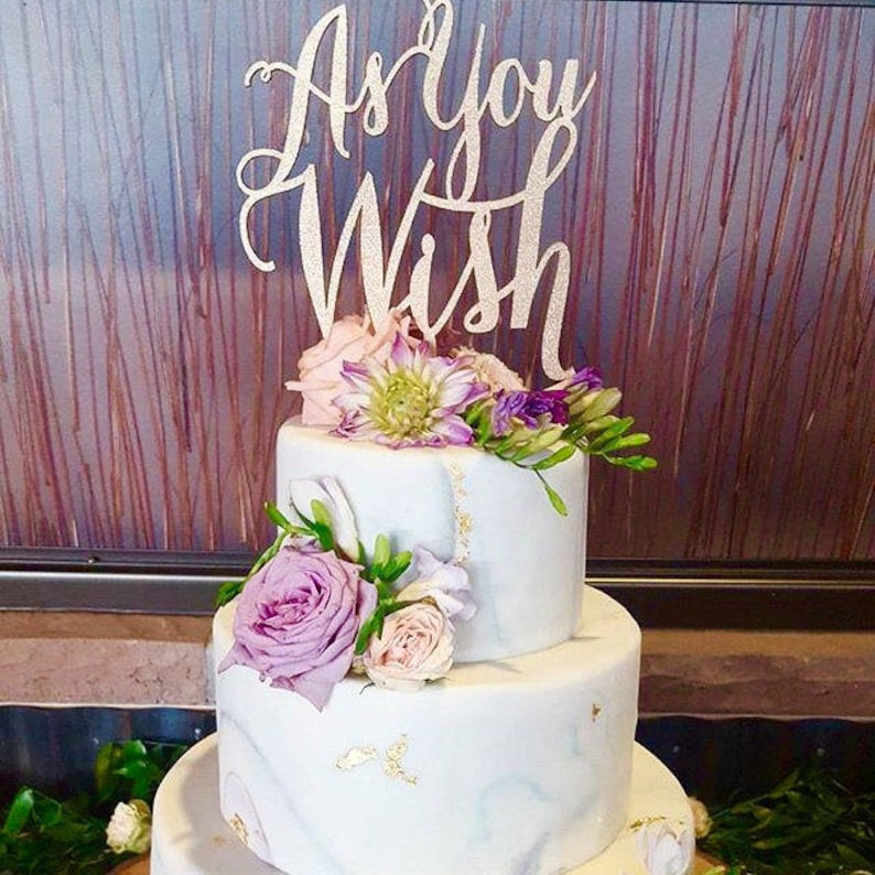 As You Wish Cake Topper Wedding Engagement