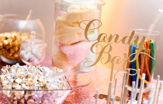 Candy Bar Sign, Sweets Table Sign, Candy Table Sign, Love is Sweet, Sweet Treats, Sweets and Treats, Gold Wedding, Rose Gold Wedding