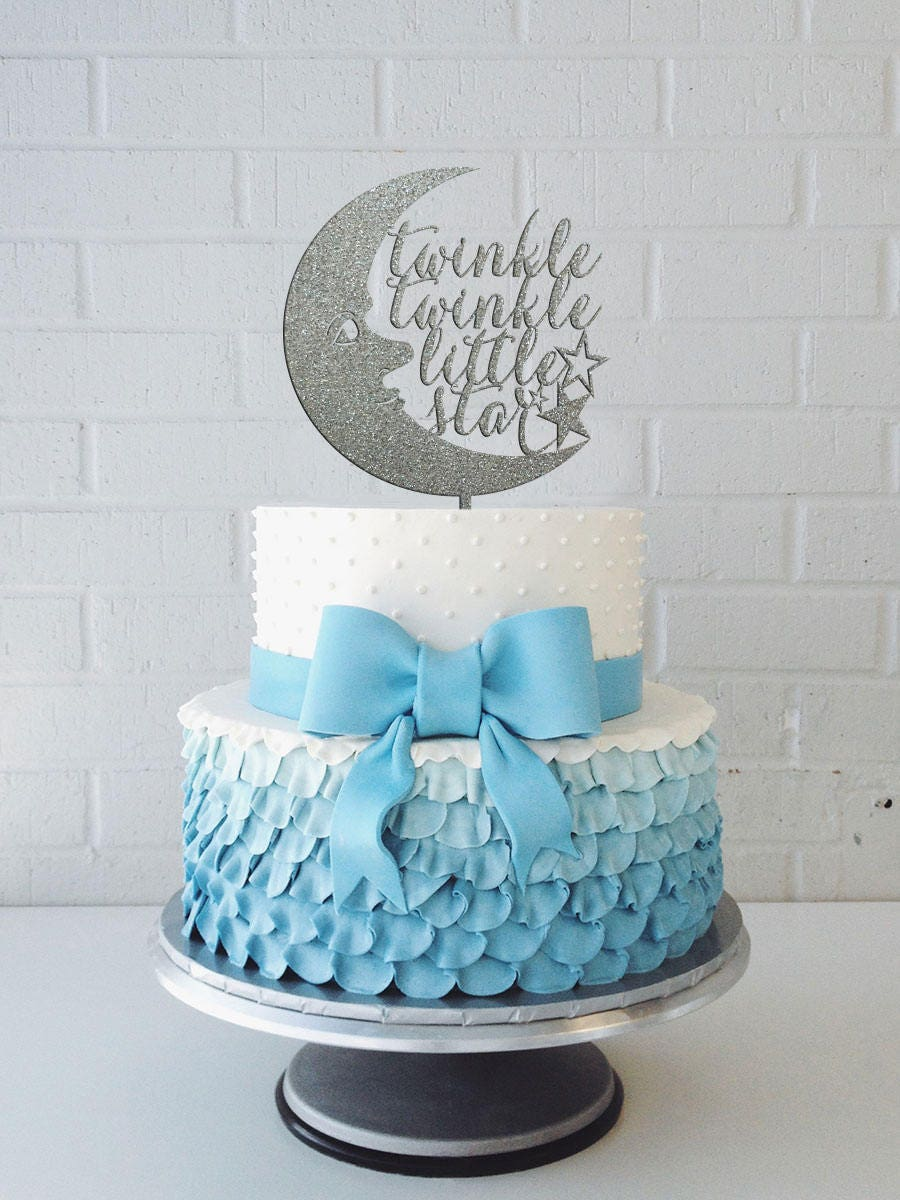 Twinkle Twinkle Little Star Cake Topper, Gender Neutral Baby Shower Decorations, Baby Shower