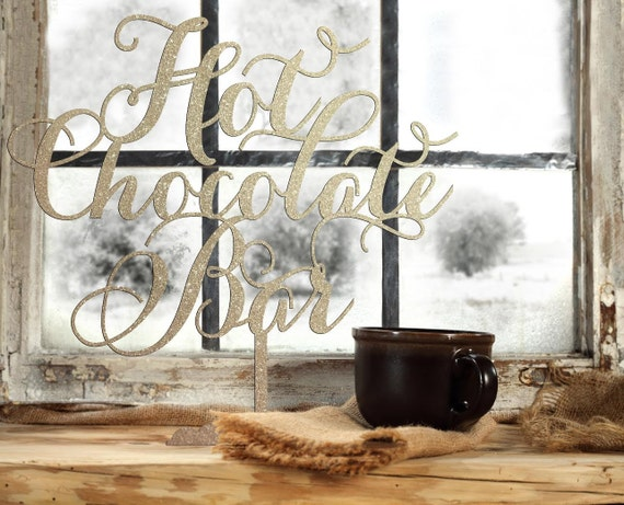 Outdoor Wedding Sign, Wedding Sign, Christmas Party Sign, Winter Wedding Sign, Hot Chocolate Bar Sign,  Bridal Shower Sign, Hot Cocoa Sign