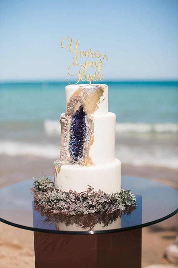 You Re My Person Wedding Cake Topper Rose Gold Wedding Etsy